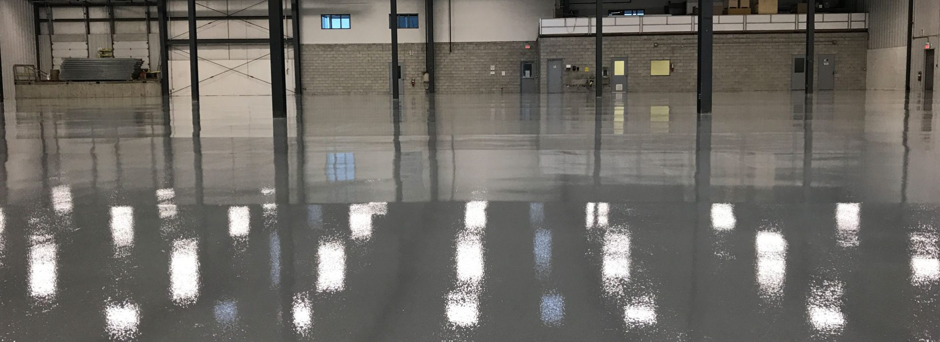 Tough, durable epoxy floor finish for warehouse