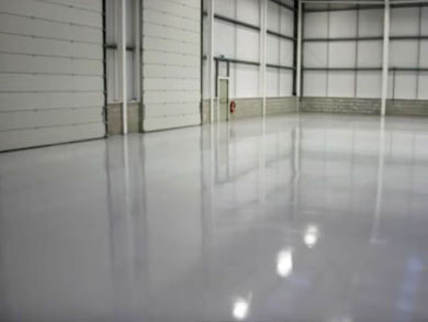 Epoxy Industrial Concrete Flooring, Warehouse Sarnia Ontario