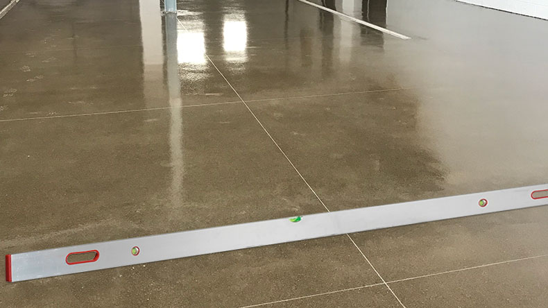 concrete floor leveling and sloping