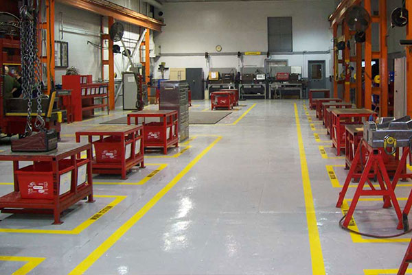 Industrial Floor with Urethane Finish, Windsor