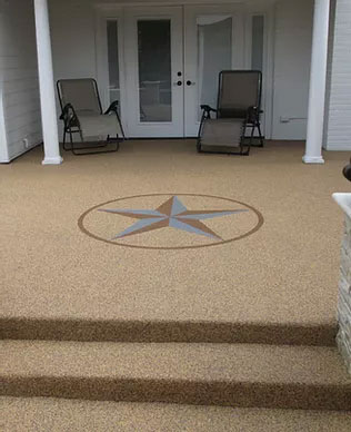 Rubber surfacing, porch, Sarnia