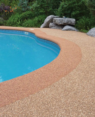 Rubber surfacing swimming pools, London