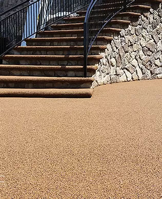 Rubber resurfacing steps, London, Ontario